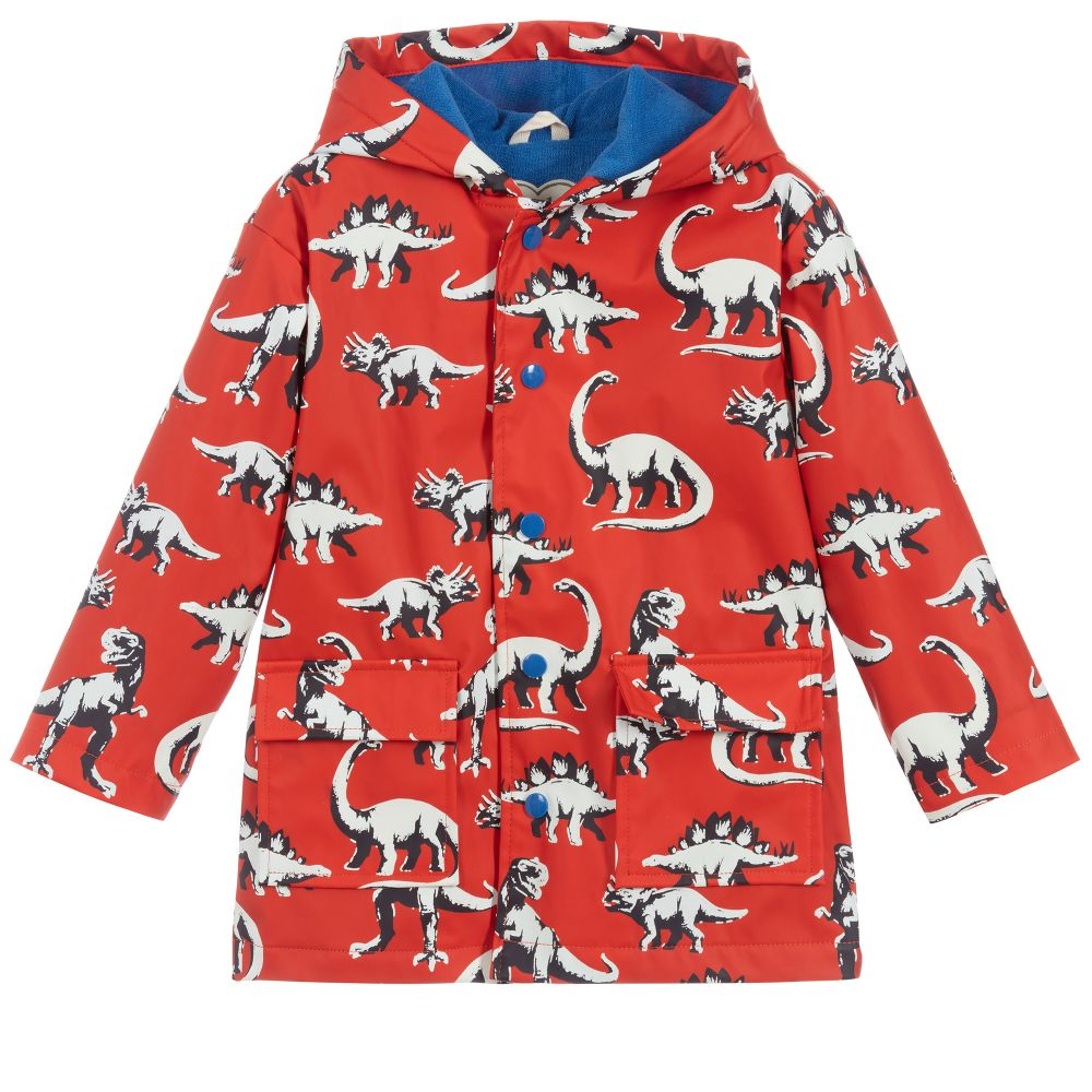 Hatley Boys Painted Dinos Colour Changing Raincoat F20pdk