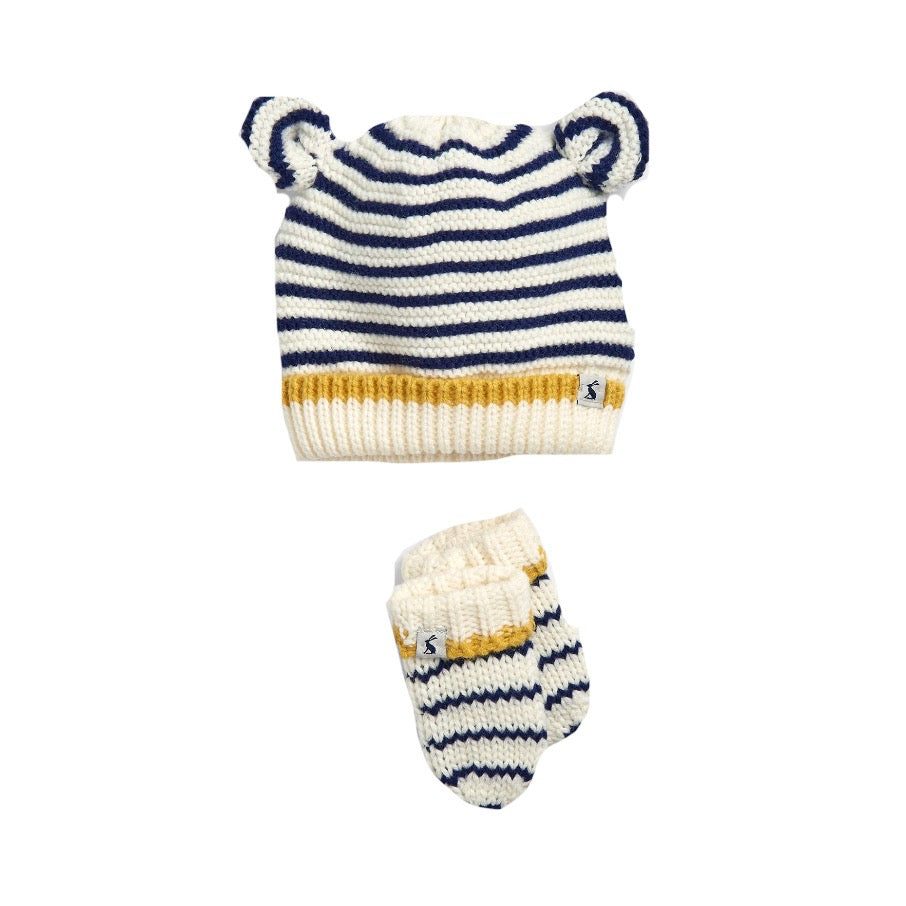 Joules Crown Navy Baby Hat Set 209383