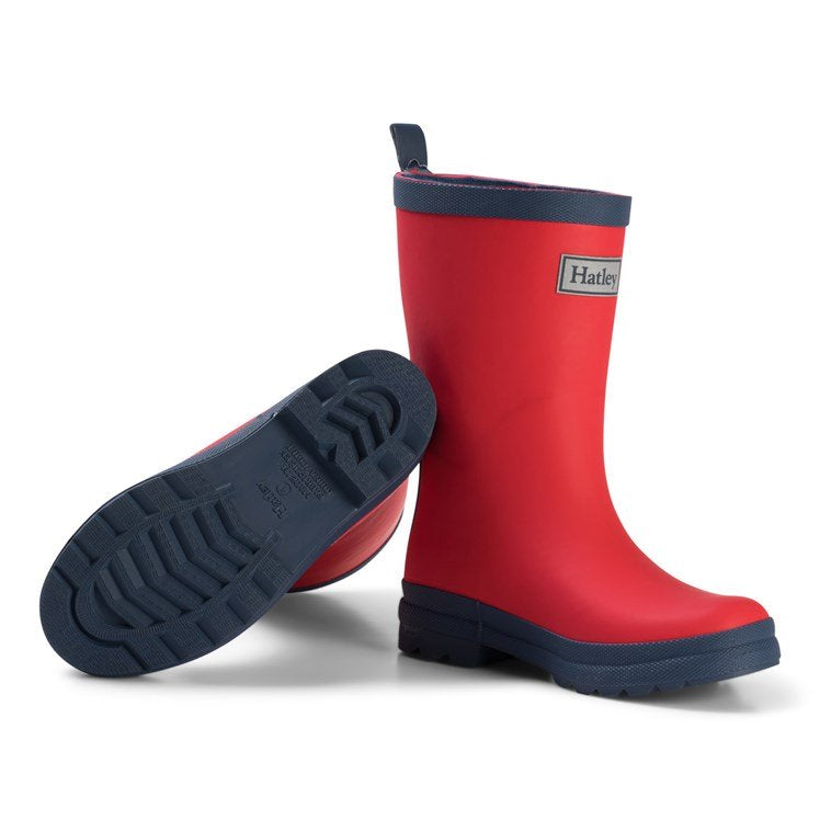 Hatley Red And Navy Wellingtons Redd306