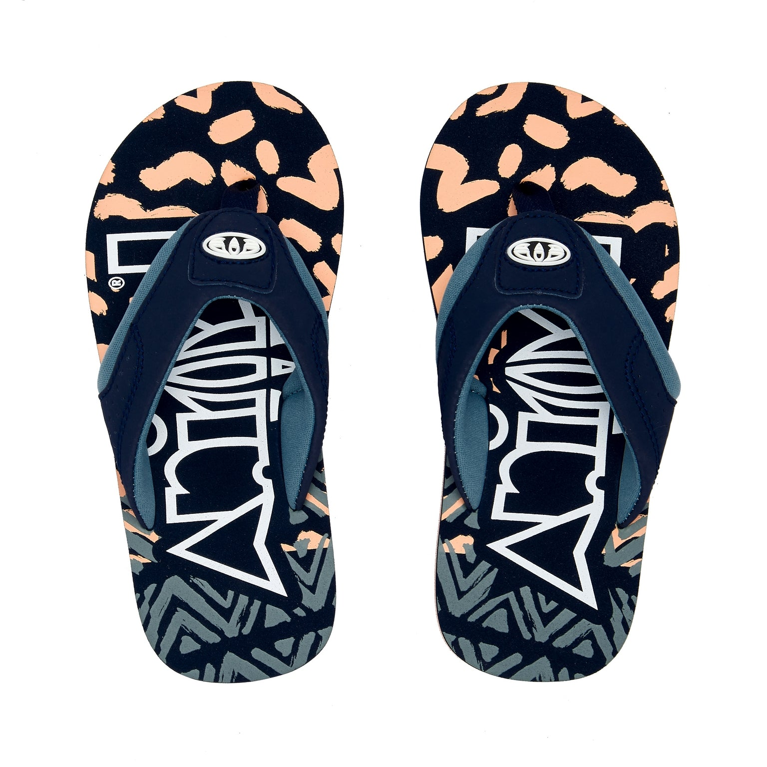 Animal Jekyl Logo Boys Flip Flops 600 Navy