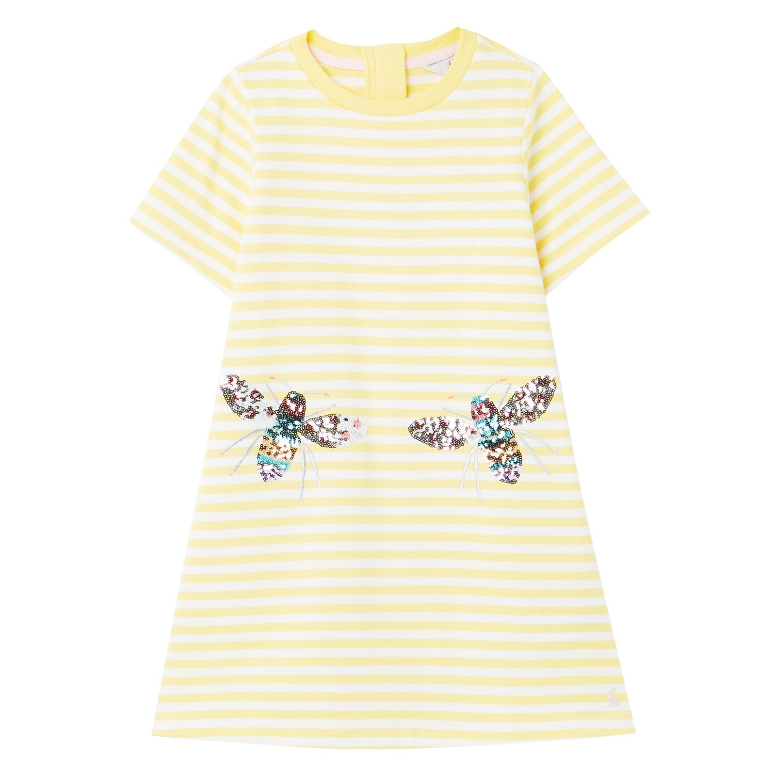 Joules Girls Rosalee Dress Yellow Bee 211787