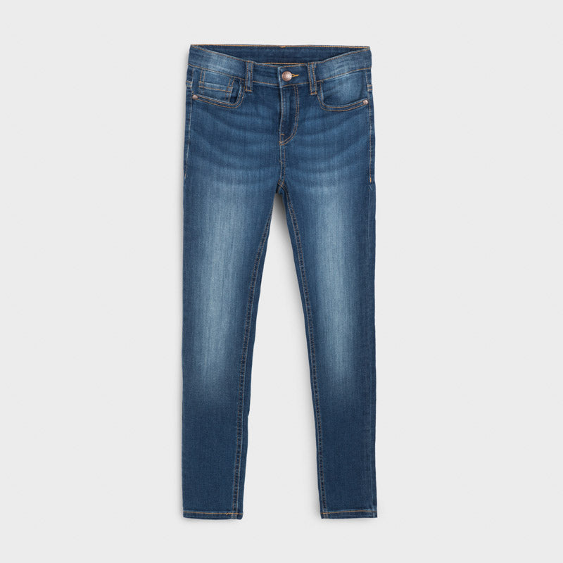 Mayoral Older Boys Slim Fit Jeans A20516 Mid Denim