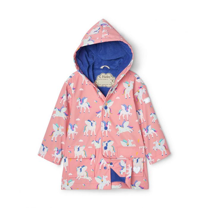 Hatley Girls Pegasus Colour Changing Raincoat S21rpk1336