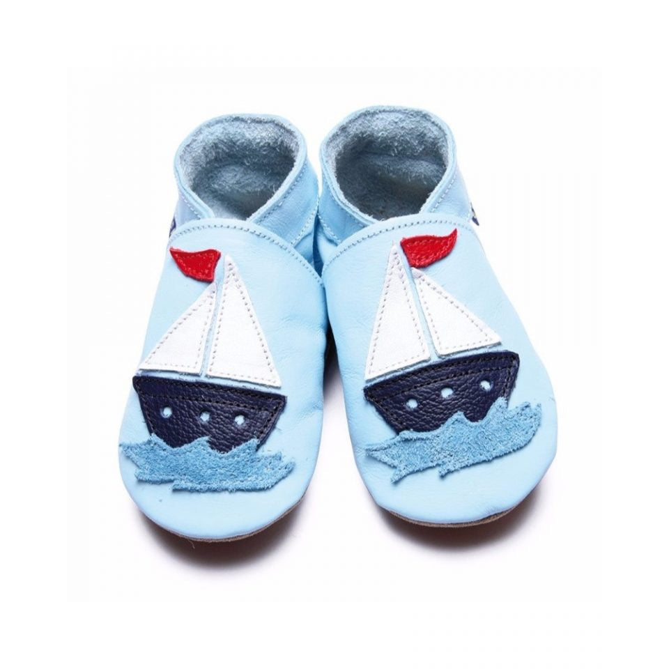 Inch Blue Baby Shoes Sail Boat Baby Blue 1580