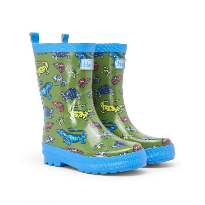 Hatley Boys Aquatic Reptiles Wellingtons S21rek1366