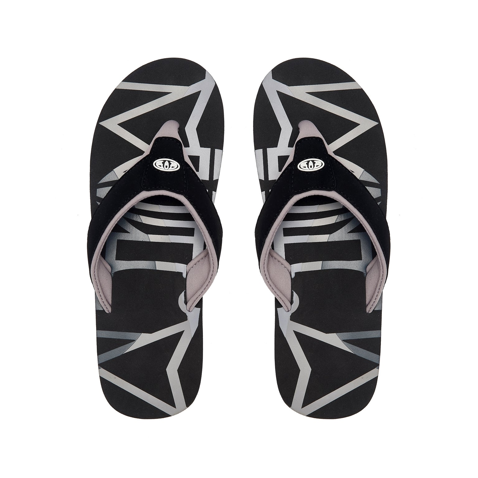 Animal Mens Bazil Logo Flip Flops 002 Black
