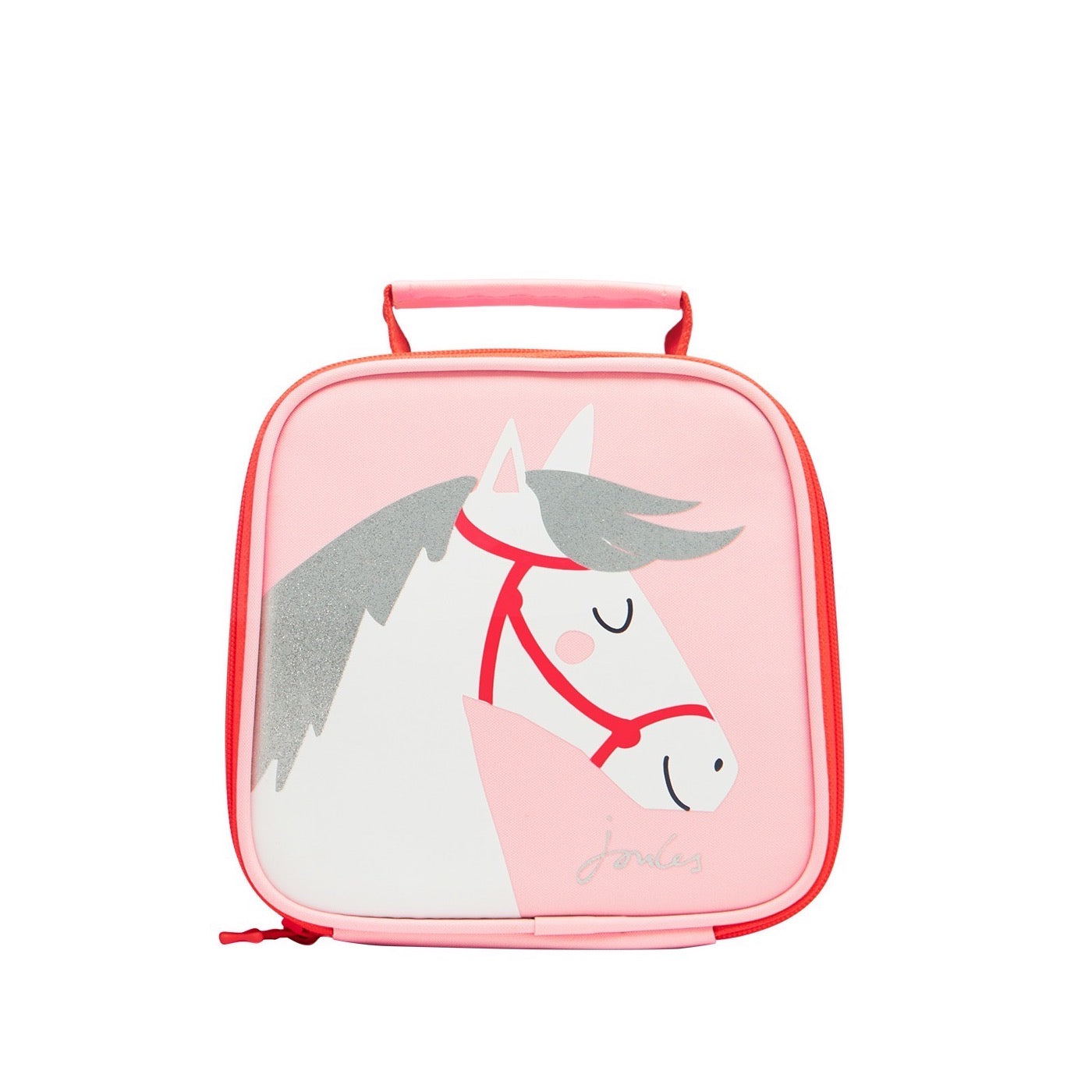 Joules Girls Pink Horse Lunchbag 209182