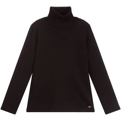Mayoral Older Girls Turtleneck Sweater 345 Black