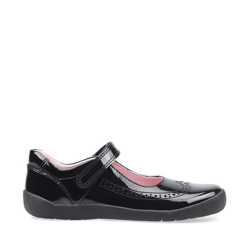 Startrite Girls Spirit Black Patent Shoes 2802