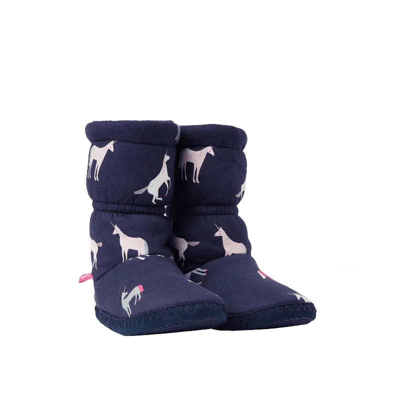 Joules Padabout Unicorn Slippers