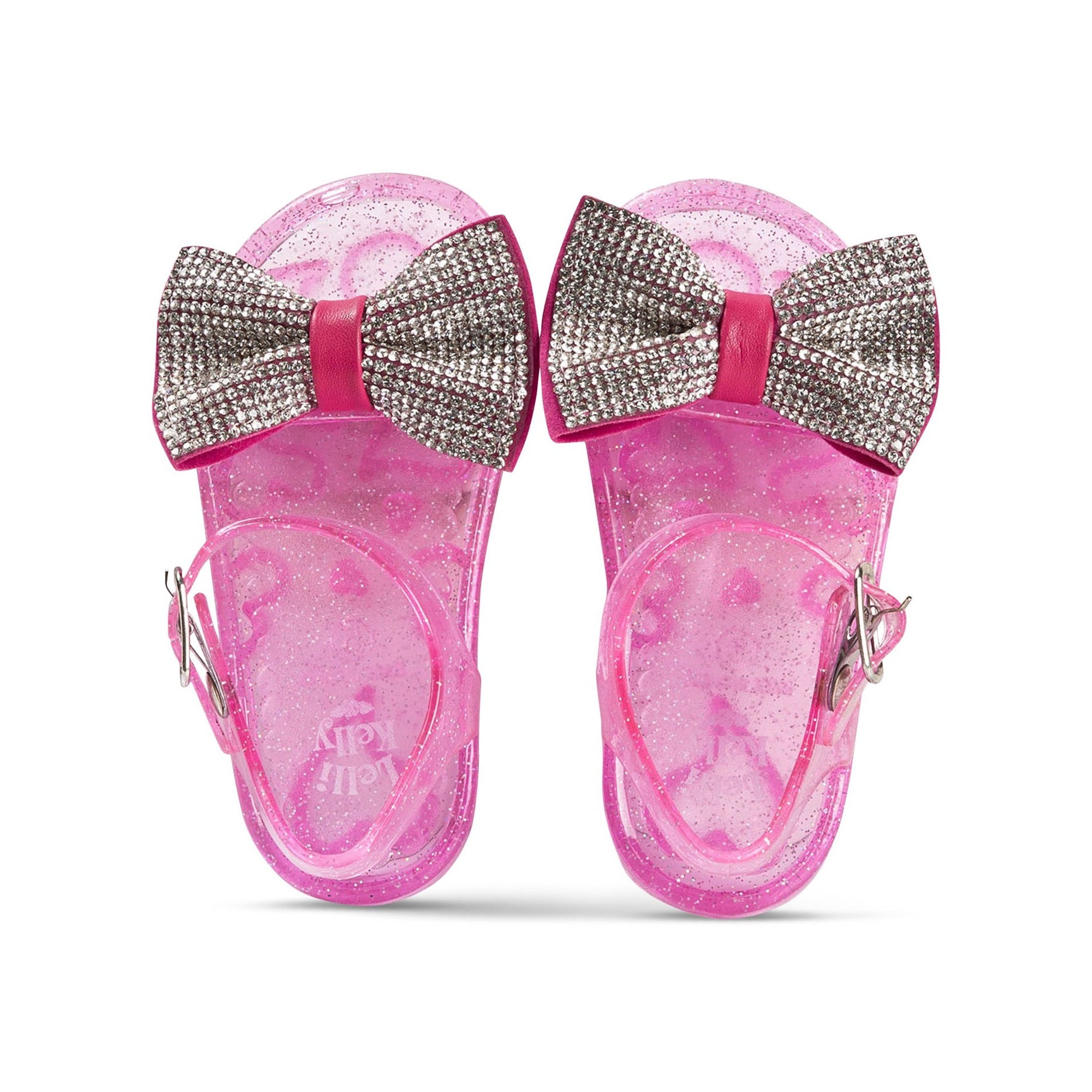 Lelli Kelly Dalia Diamante Bow Jelly Shoes Pink