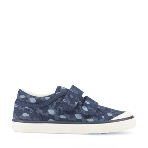 Startrite Bounce Navy Camo Canvas Shoe 6169