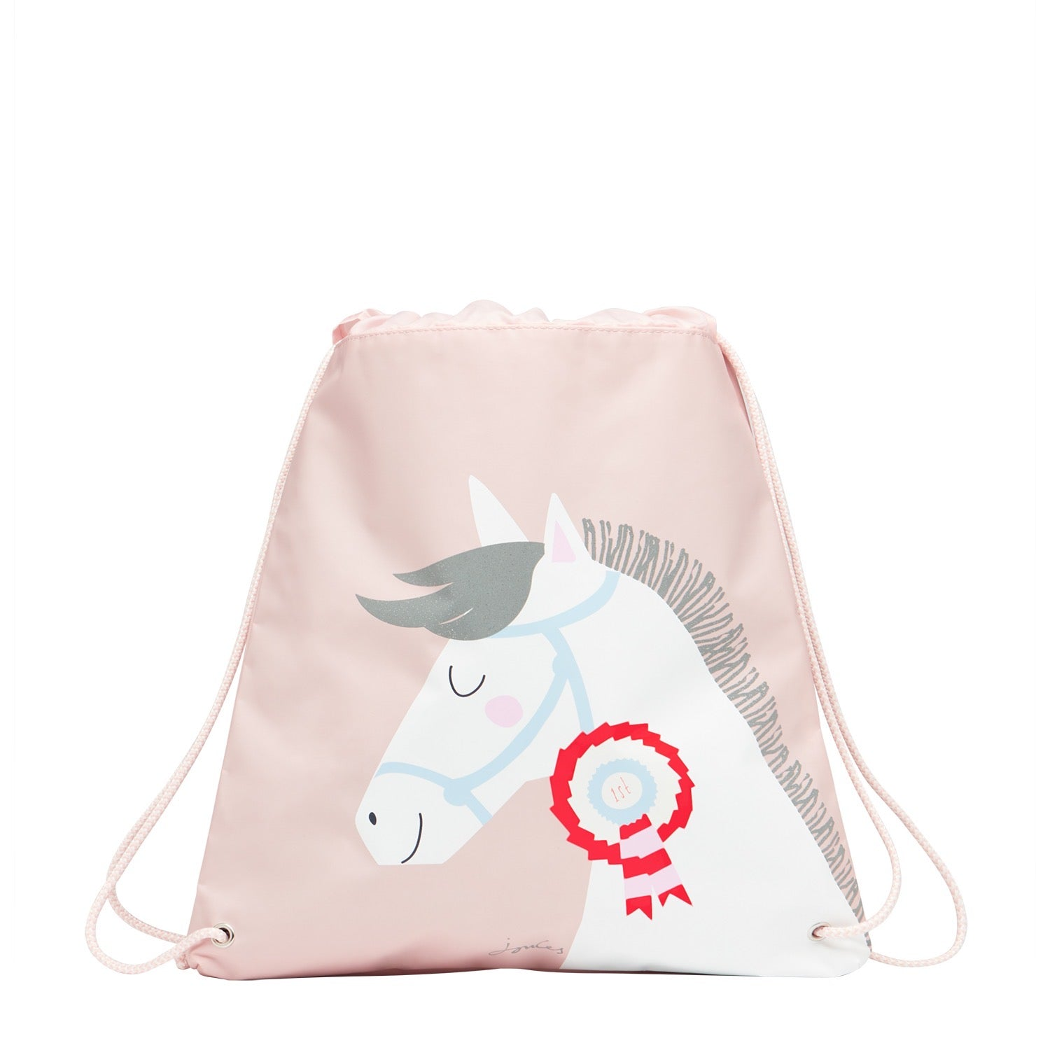 Joules Girls Active Bag Pink Horse