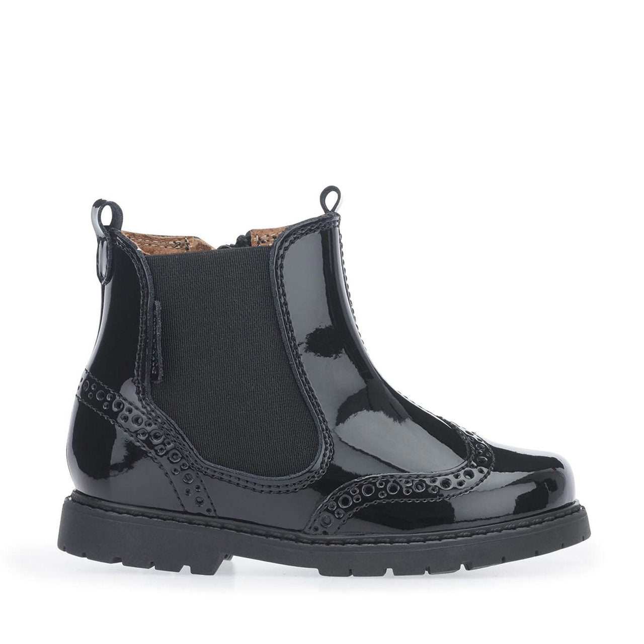 Startrite Black Patent Chelsea Boot 1445