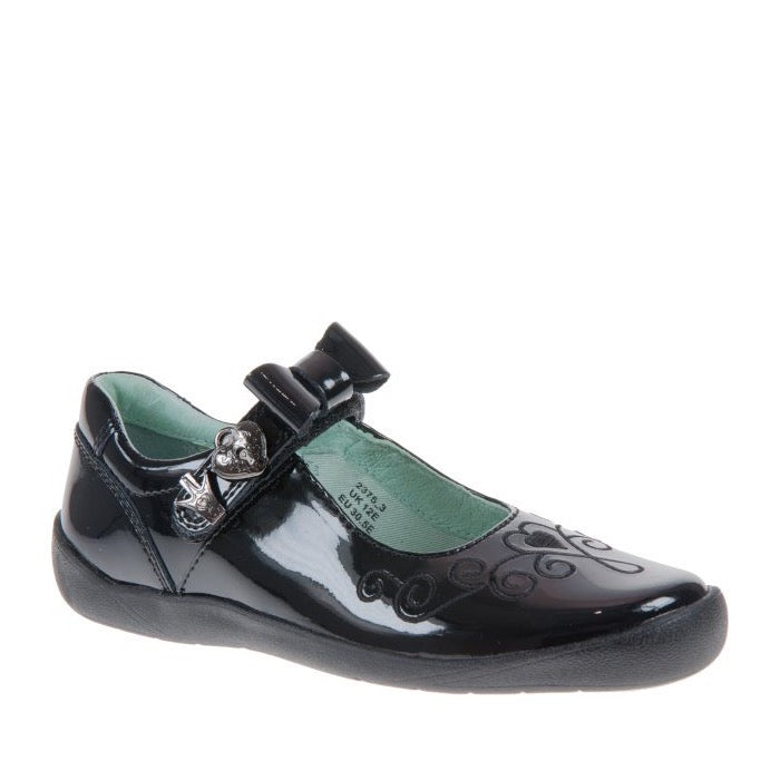 Startrite Princess Elza Black Patent Shoes 2375