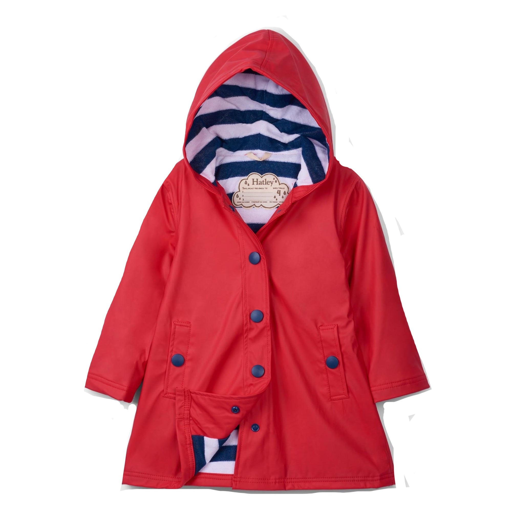 Hatley Girls Red Raincoat Rc8cgrd003