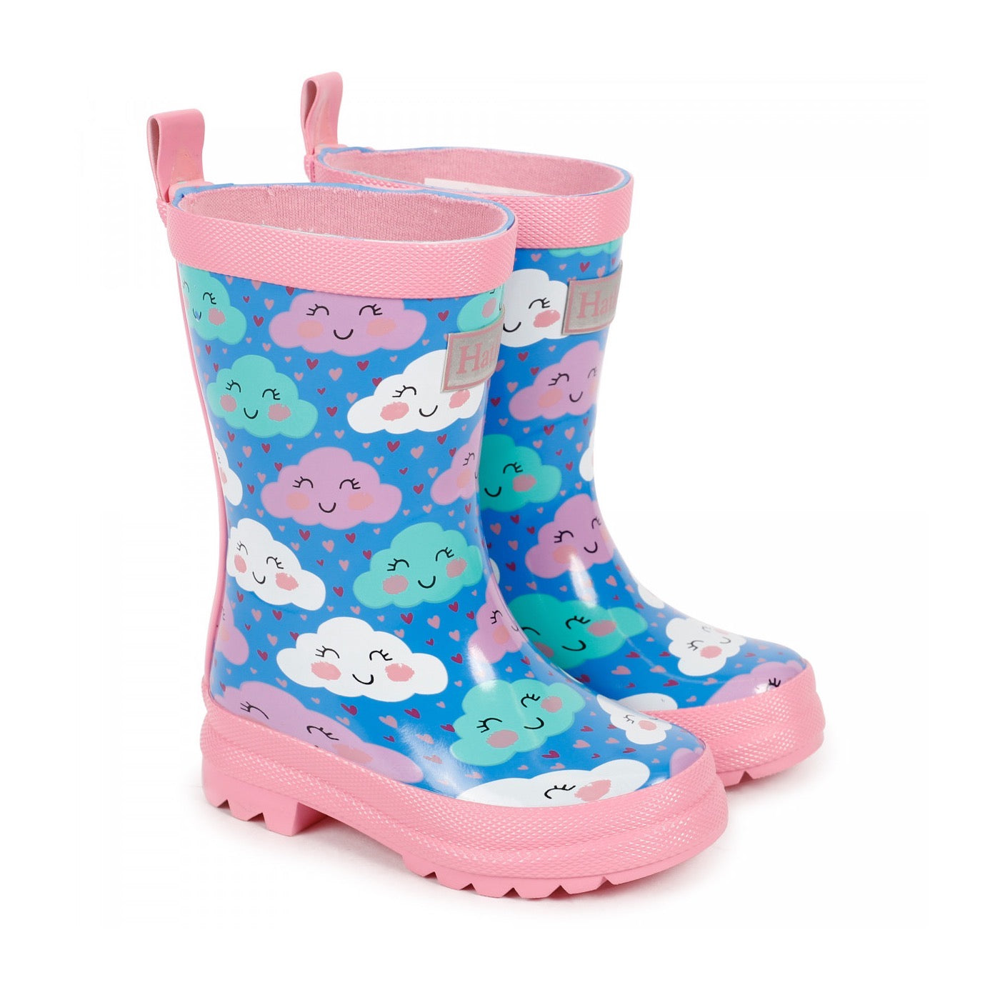 Hatley Girls Playful Clouds Wellingtons 1366