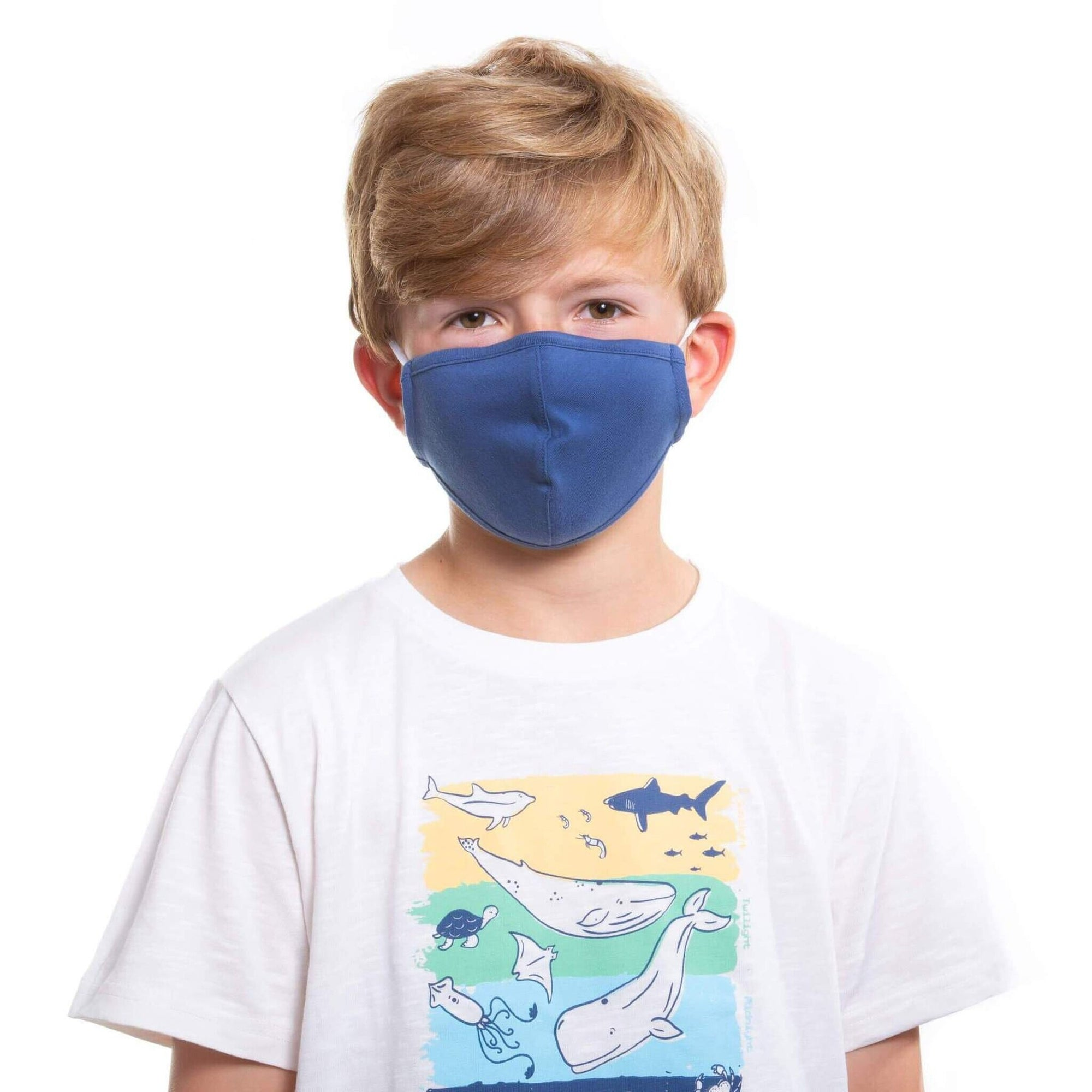 Kite Childs Face Mask Plain Navy