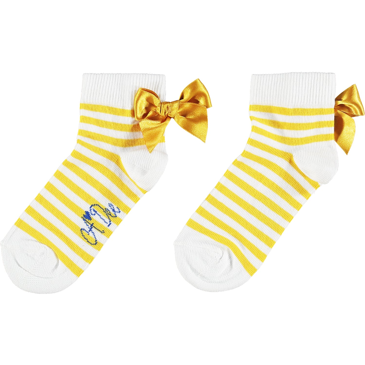 Adee Libby Stripe Ankle Socks S211903 Yellow Stripe