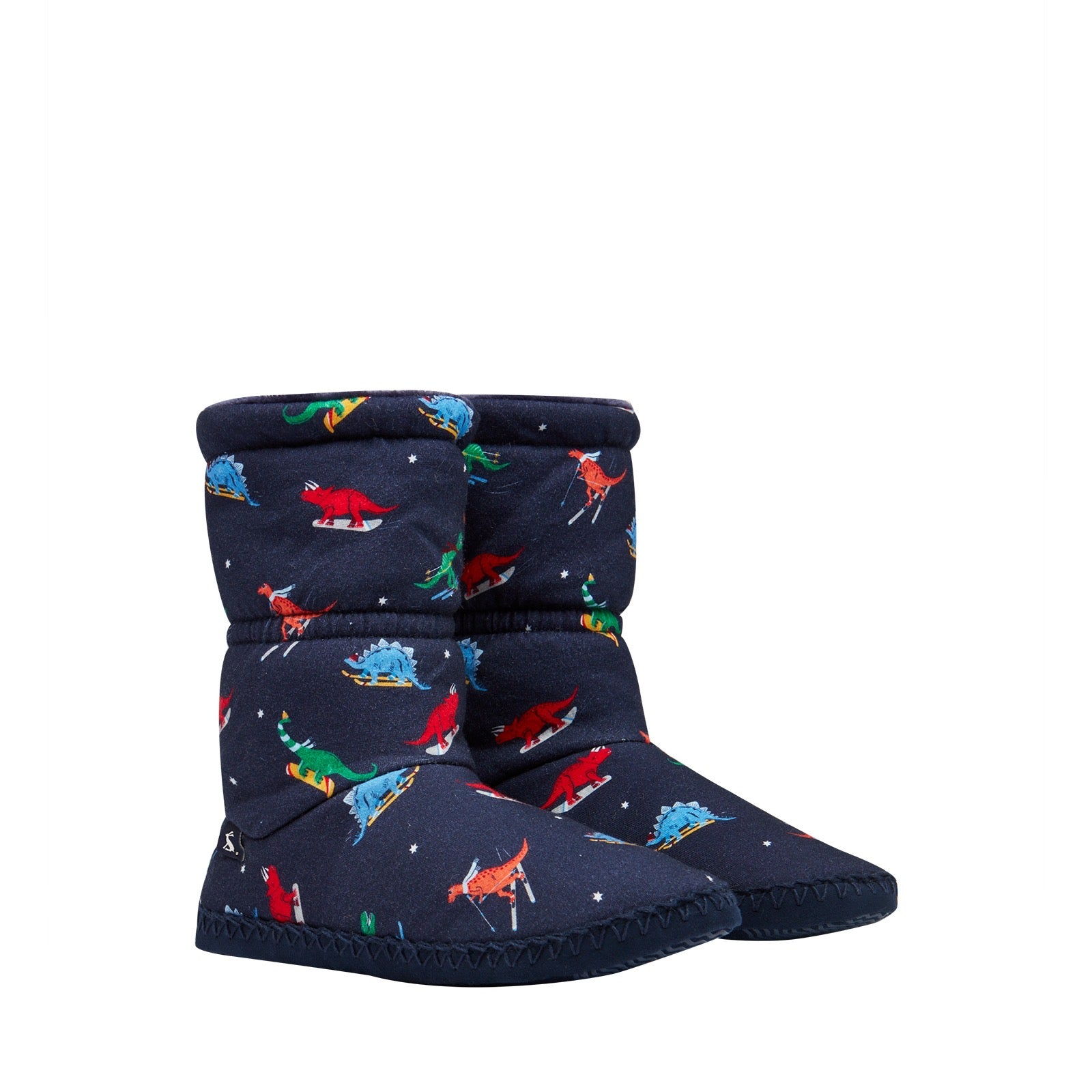 Joules Padabout Navy Dinos Slippers
