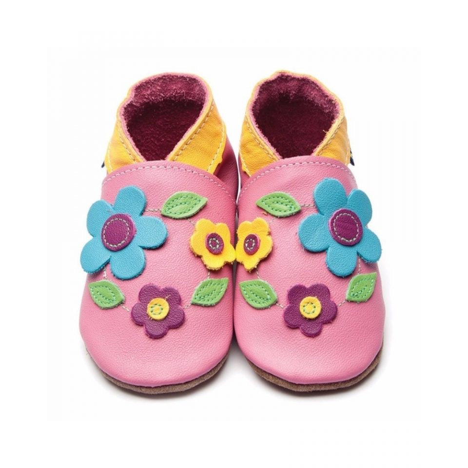 Inch Blue Baby Shoes Flora Rose Pink 3098