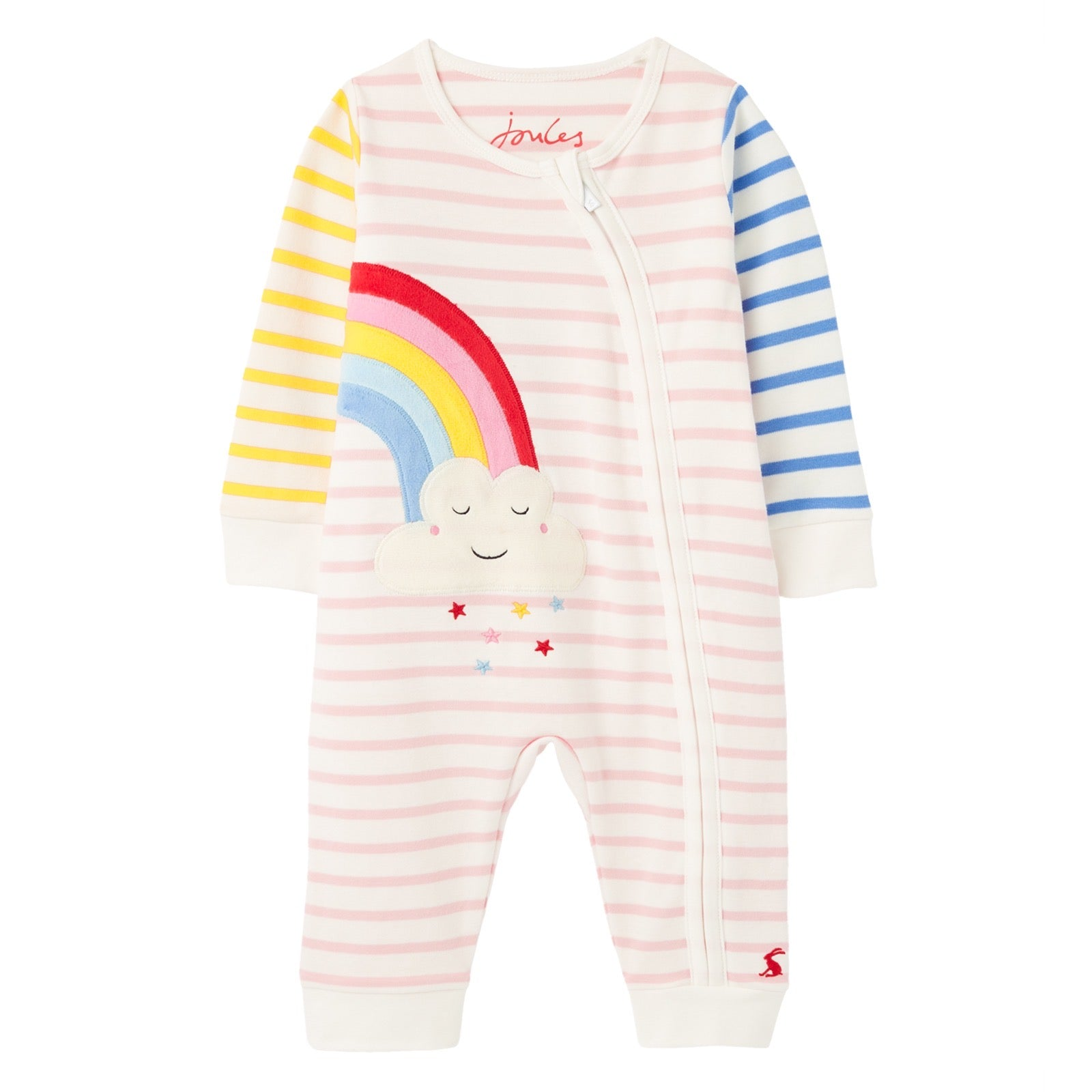 Joules Winfield Multi Rainbow Romper