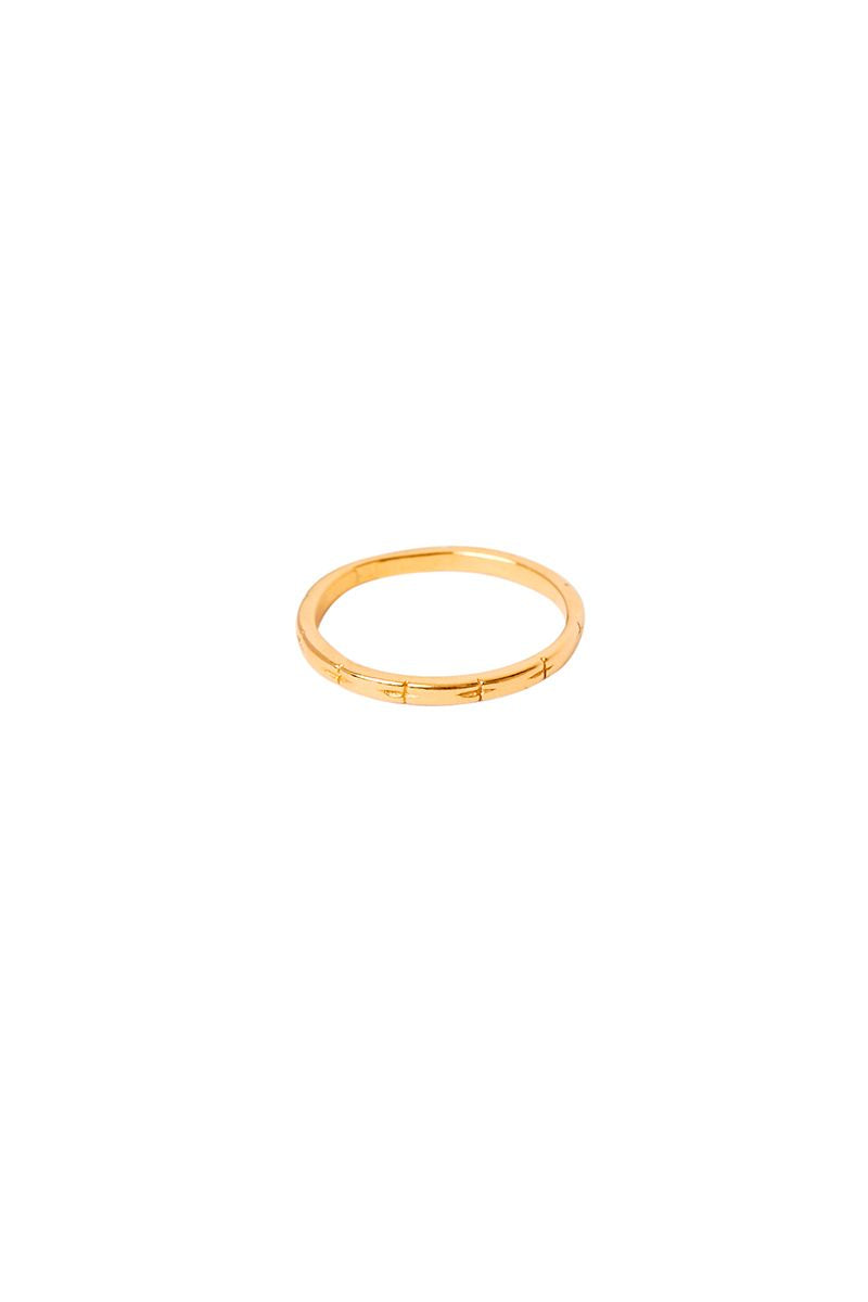 Gold Cross Band Ring