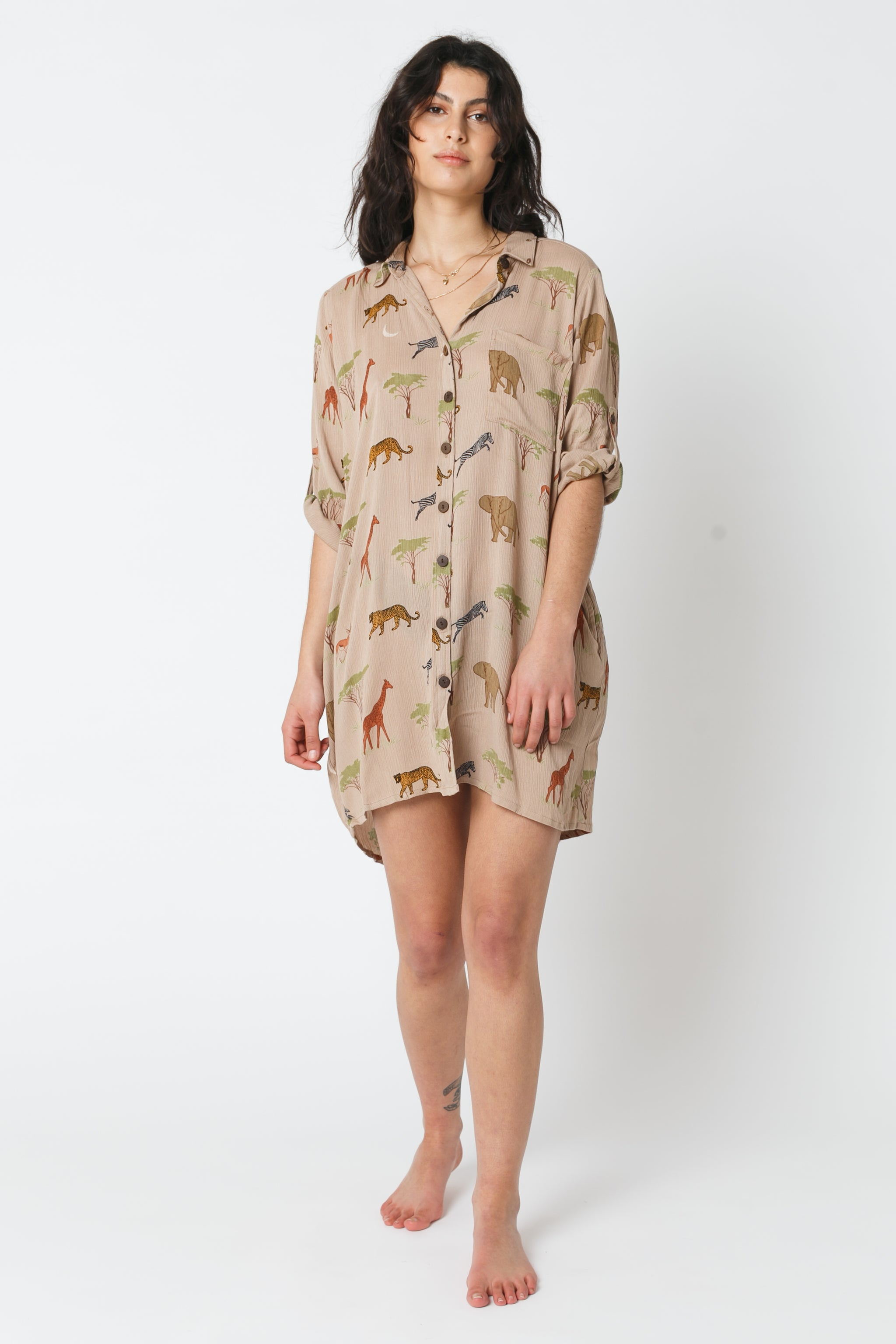 Taza Shirt Dress