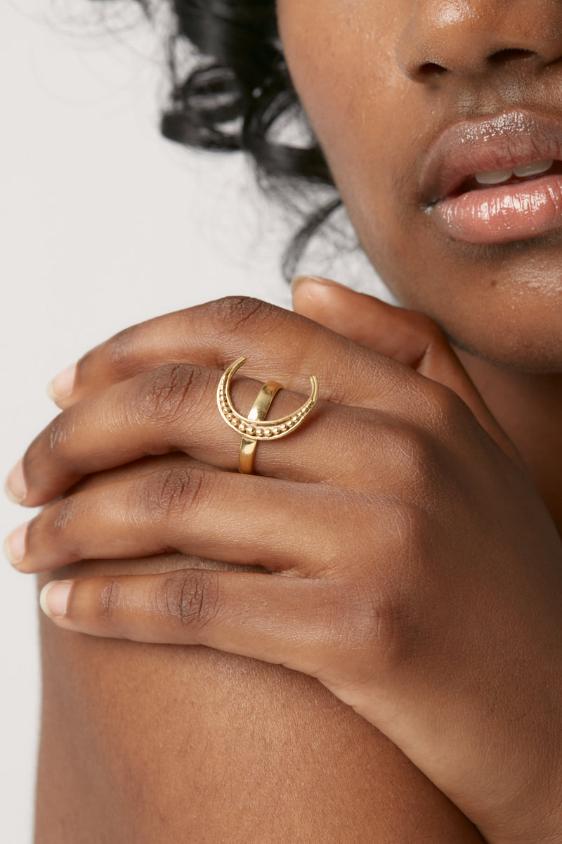 Gold Luna Ring