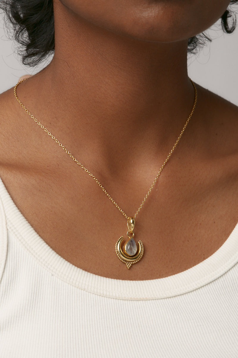Gold Nixie Pendant