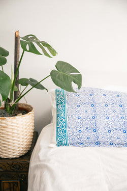 Handblock Pillow Cover