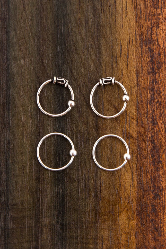 Four Nose Ring Pack