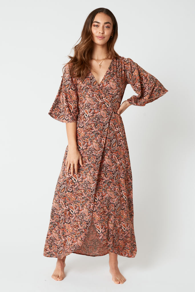 French Rose Wrap Dress