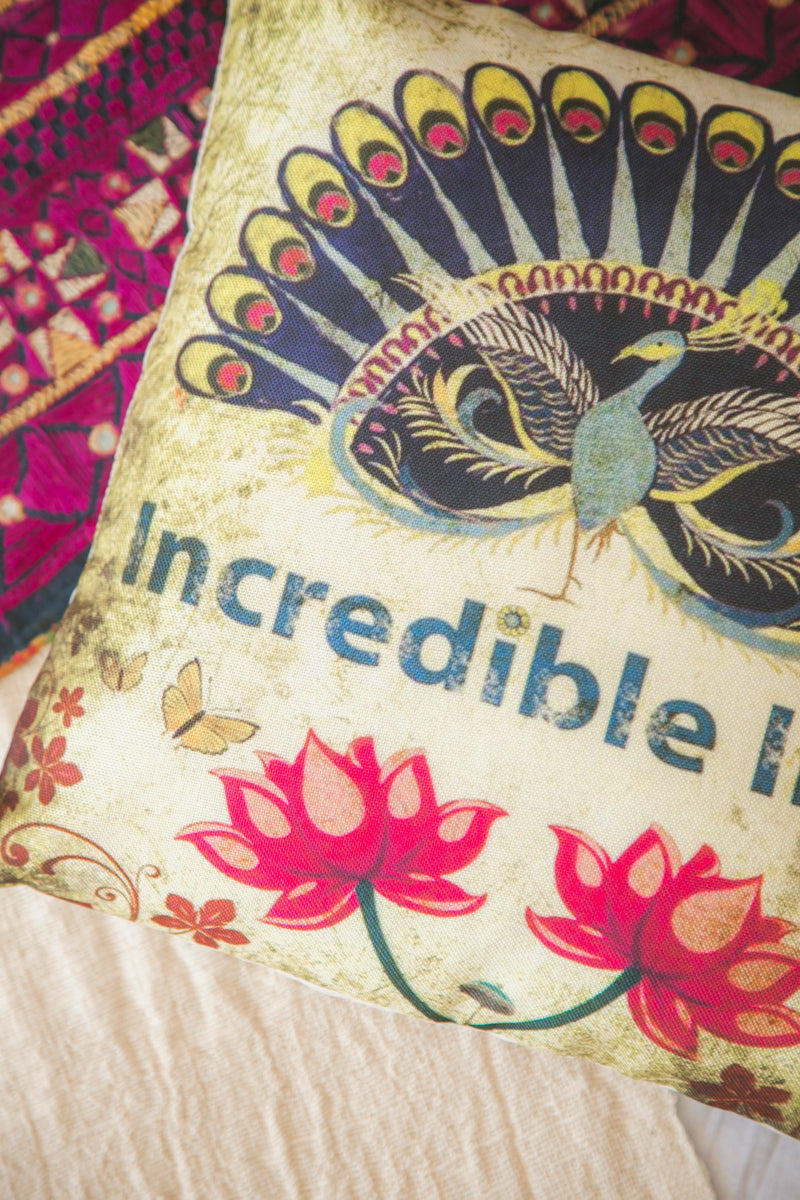 Incredible India Cushion Cover