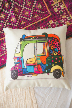 Tuk Tuk Cushion Cover