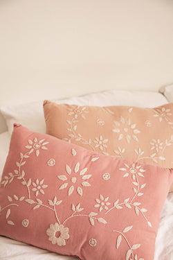 Oblong Embroidered Cushion