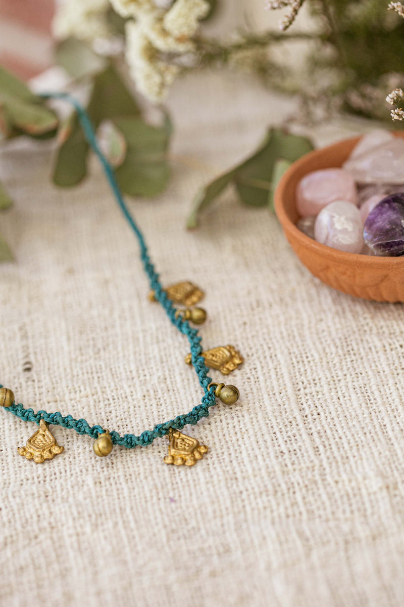 Choker with Gold Charms
