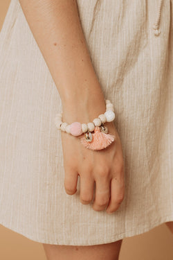 Bead Bracelet with Tassel
