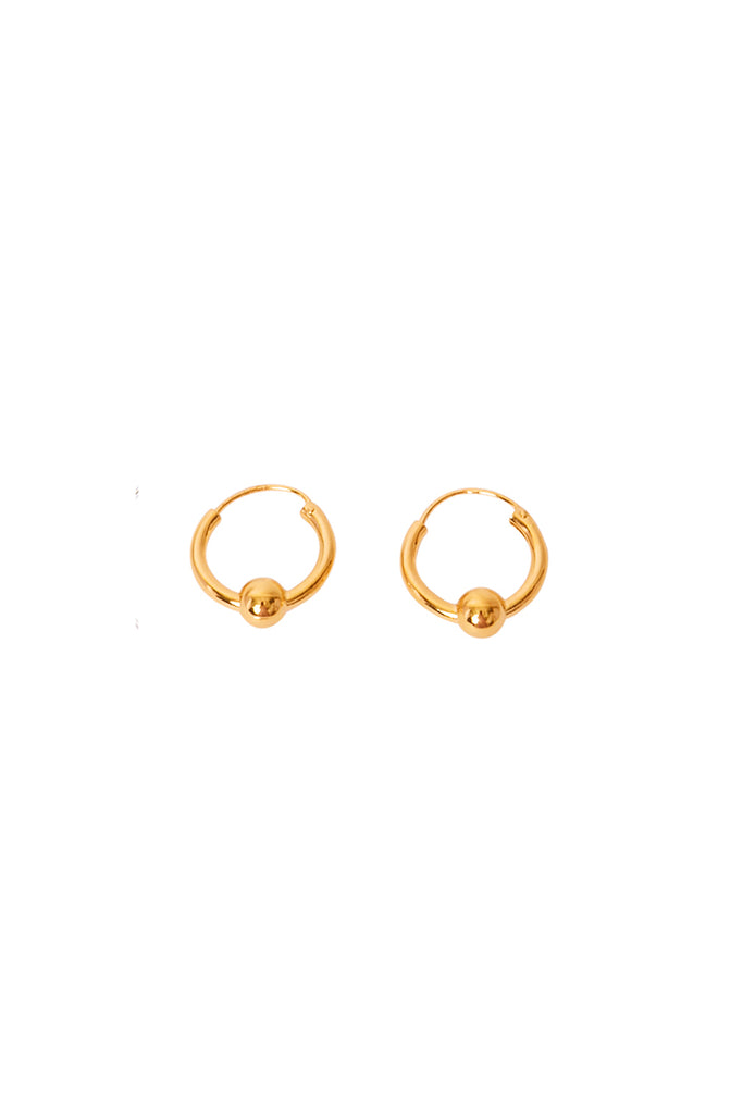 Gold Zoa Ball Hoops