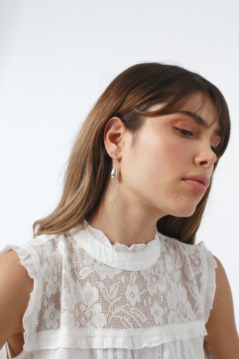 Nicia Droplets Silver Earrings