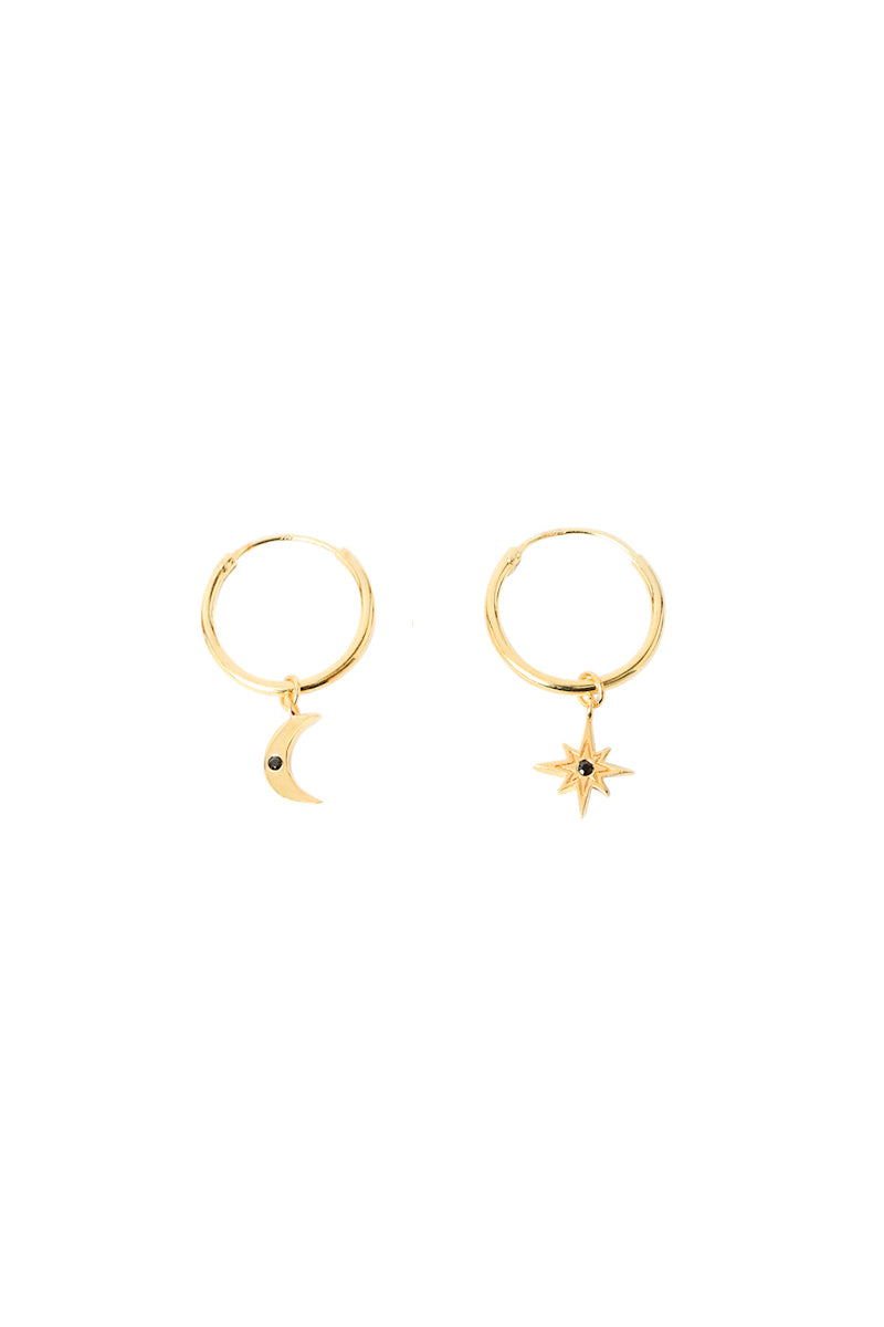 Golden Galax with Stone Hoops