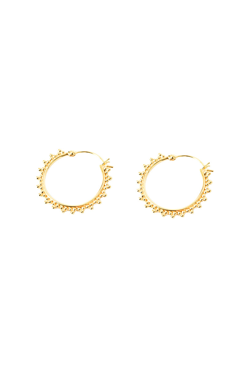 Gold Liza Dotted Hoops