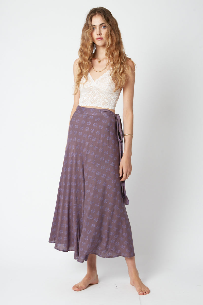 Grape Wrap Skirt