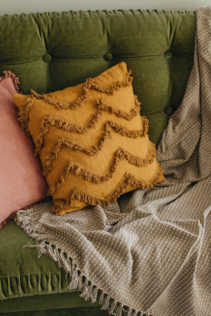Wave Fringe Cushion