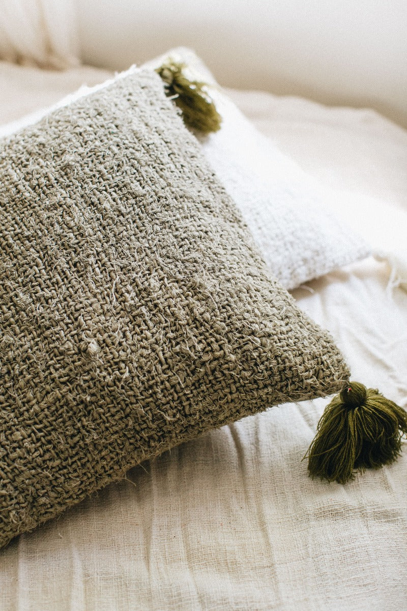 H4281 Recycled Linen Cushion w/ Filler