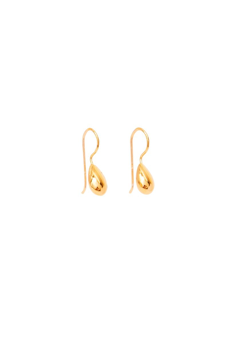 Gold Lia Puff Pod Earrings