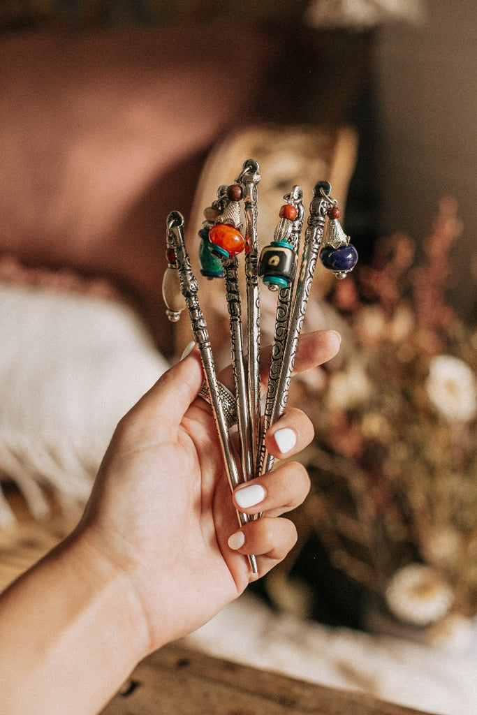 Beaded Hair Stick