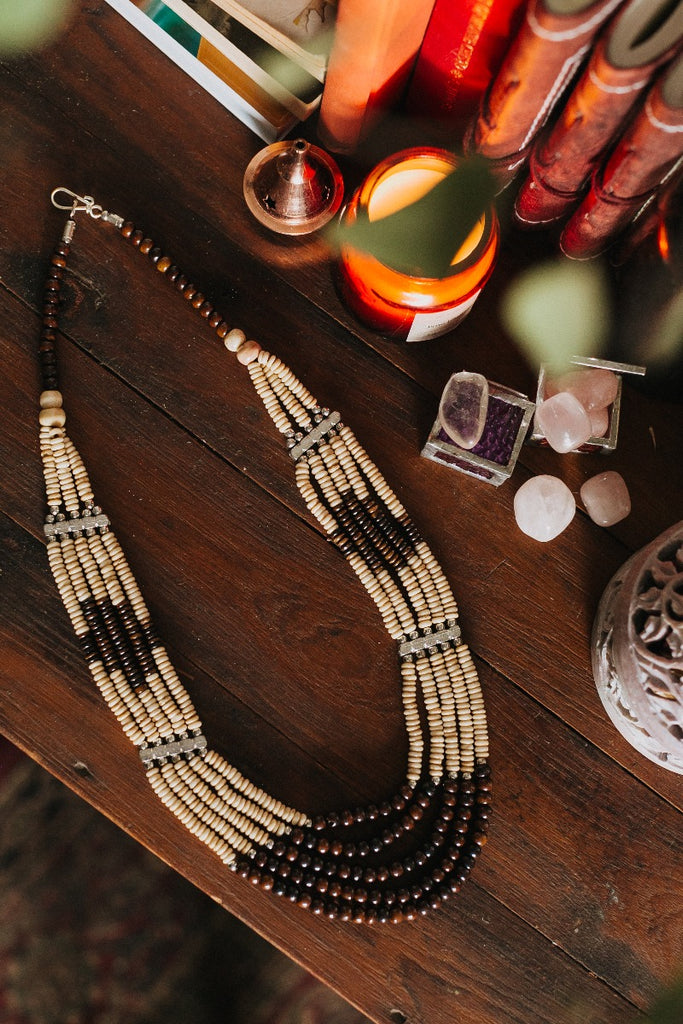 Tex Beaded Necklace
