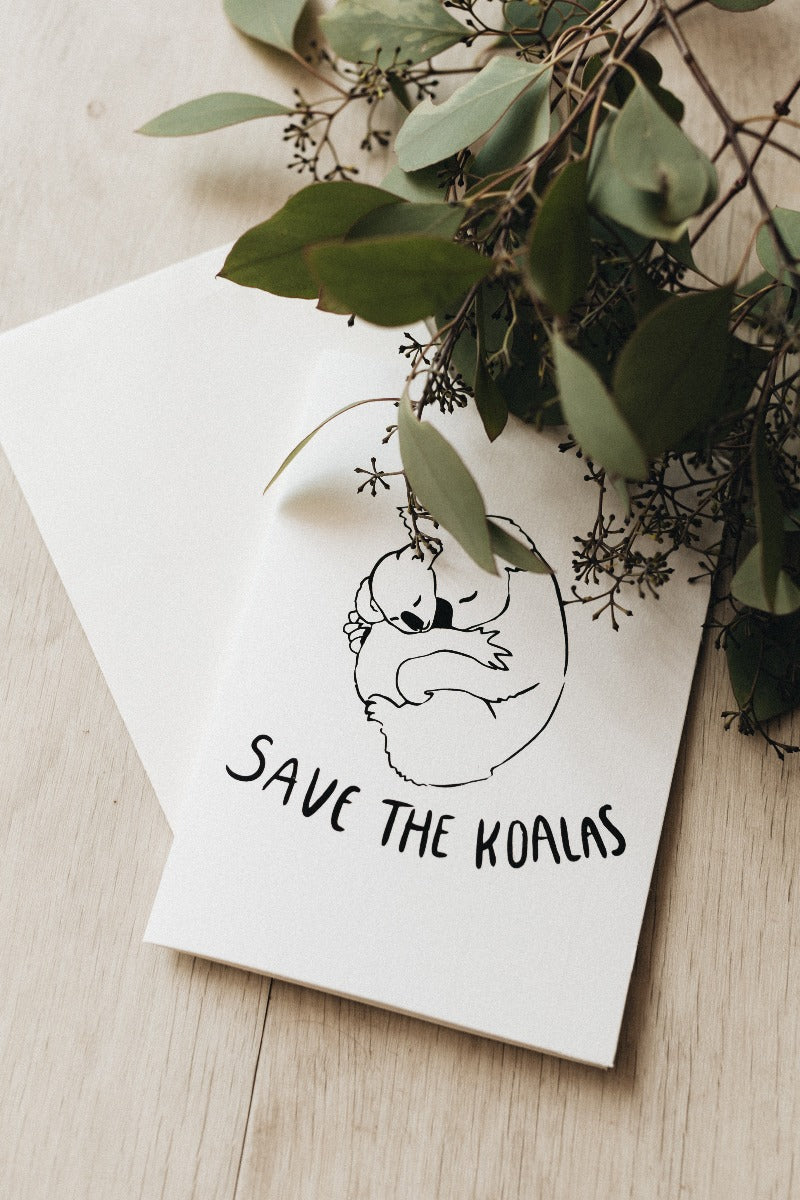 Save The Koalas Greeting Card