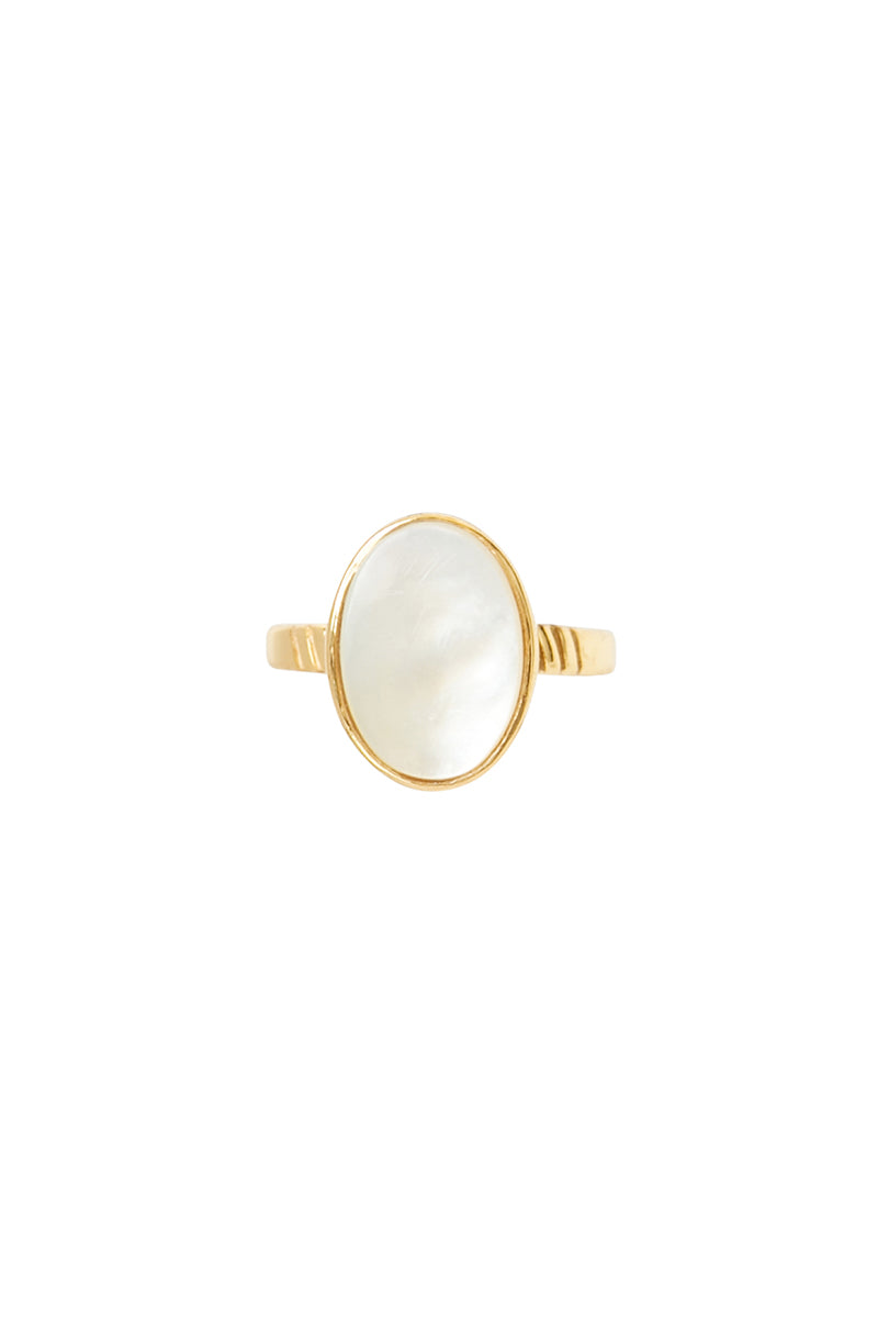 Gold Reed Ring